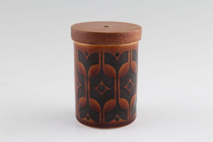 """Hornsea Heirloom - Brown Salt Pot 1 3/4 x 2 1/4"""""""
