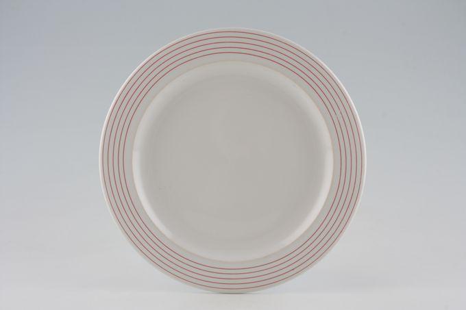 "Hornsea Linear Red Breakfast / Salad / Luncheon Plate 8 3/4"""