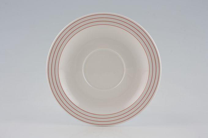 """Hornsea Linear Red Tea Saucer 5 3/4"""""""
