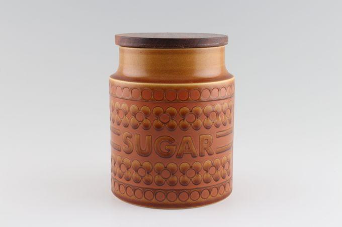 """Hornsea Saffron Storage Jar + Lid Size represents height. Sugar 6"""""""