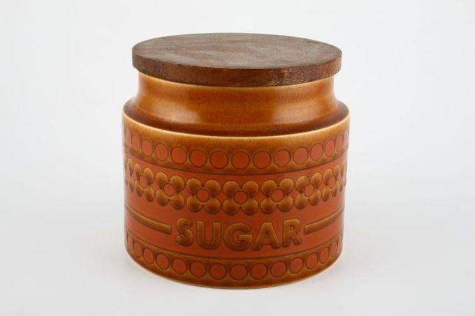 """Hornsea Saffron Storage Jar + Lid Size represents height. Sugar 4"""""""