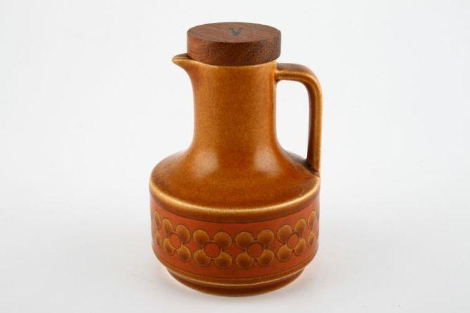 "Hornsea Saffron Vinegar Bottle + Stopper Note; No seal around stopper 4"""