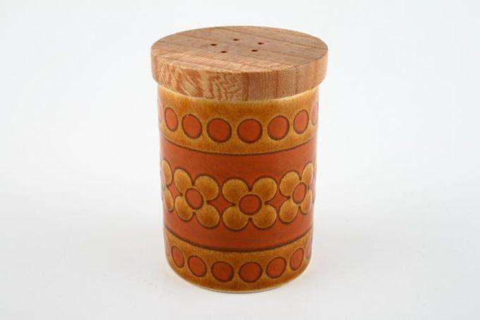 """Hornsea Saffron Pepper Pot Wooden lid 2 3/8"""""""