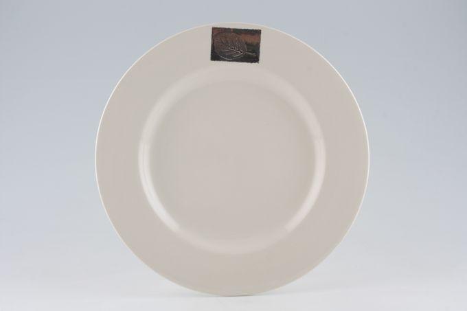 "Hornsea Silver Leaf Dinner Plate 10 3/4"""