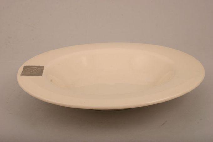 """Hornsea Silver Leaf Bowl Rimmed 8 7/8"""""""