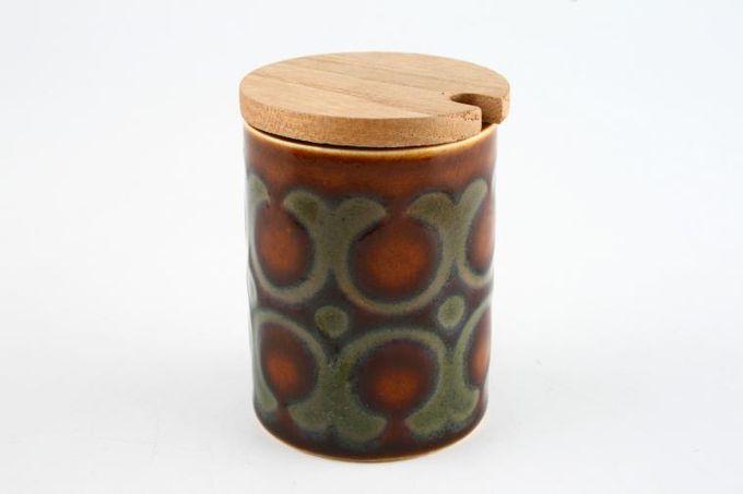 """Hornsea Bronte Mustard Pot + Lid Wooden lid 2 1/4 x 1 3/4"""""""