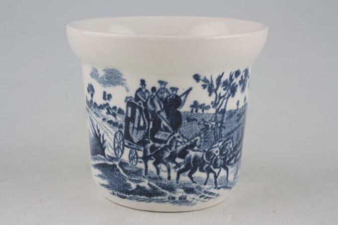 """Johnson Brothers Coaching Scenes - Blue Egg Cup 2 1/8 x 1 3/4"""""""