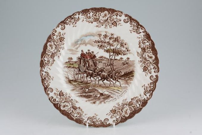 Johnson Brothers Coaching Scenes - Brown Dinner Plate Hunting Country 9 3/4""