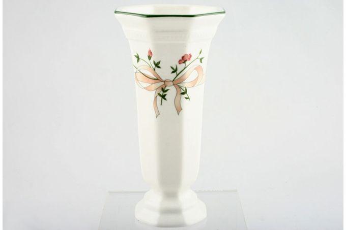 "Johnson Brothers Eternal Beau Vase Large Bow Pattern 6"""