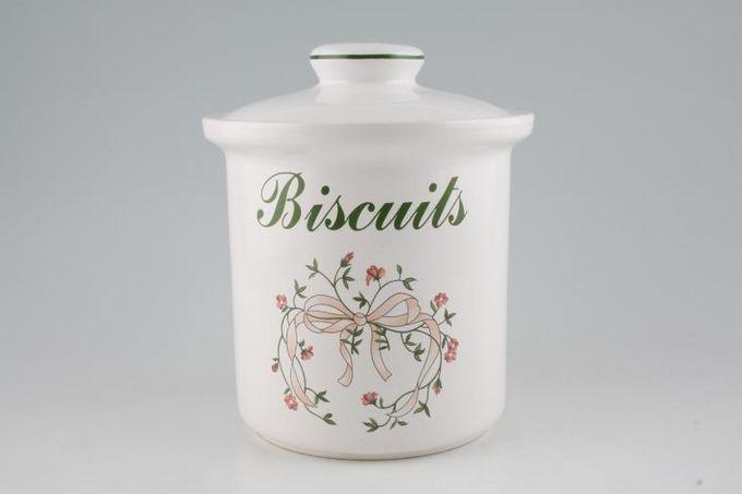 "Johnson Brothers Eternal Beau Biscuit Jar + Lid (size excludes lid) 6 1/2"""