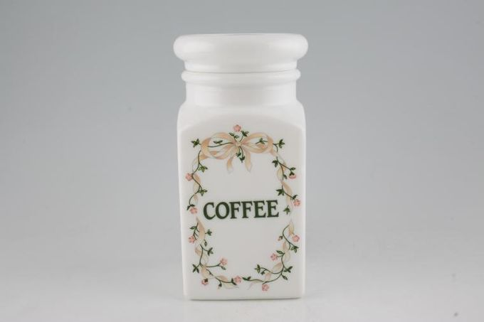 "Johnson Brothers Eternal Beau Storage Jar + Lid Coffee - Pyrex & Lid with seal 7 3/4"""