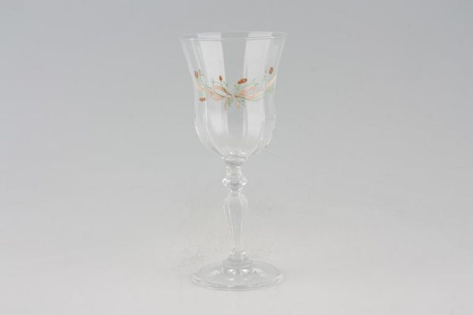 """Johnson Brothers Eternal Beau Large Wine Glass No green line on base 3 1/4 x 7 5/8"""""""
