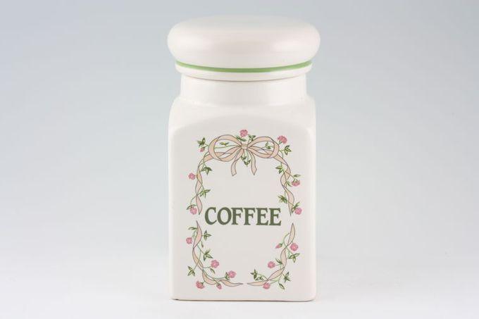 "Johnson Brothers Eternal Beau Storage Jar + Lid Coffee 8"""