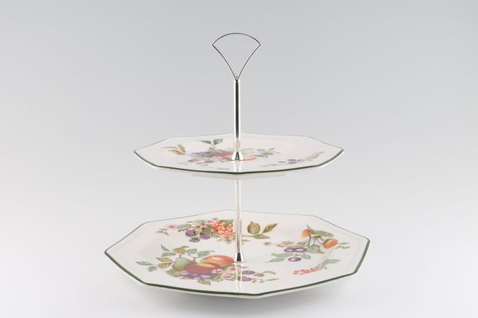 Johnson Brothers Fresh Fruit - Octagonal 2 Tier Cake Stand