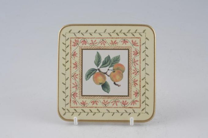 "Johnson Brothers Fruit Sampler Coaster apple 4 x 4"""
