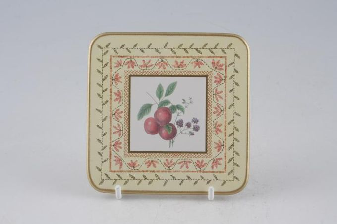Johnson Brothers Fruit Sampler Coaster plum 4 x 4""