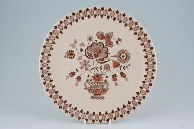 "Johnson Brothers Jamestown - Brown - Old Granite Dinner Plate 10"""
