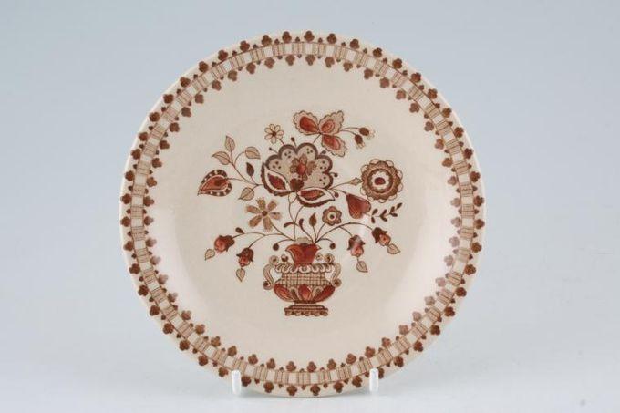 "Johnson Brothers Jamestown - Brown - Old Granite Tea Saucer 5 1/2"""