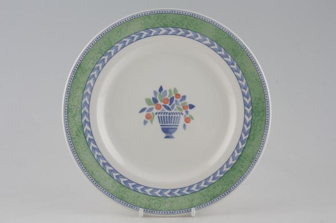 Johnson Brothers Jardiniere - Green Breakfast / Salad / Luncheon Plate 8 3/4""