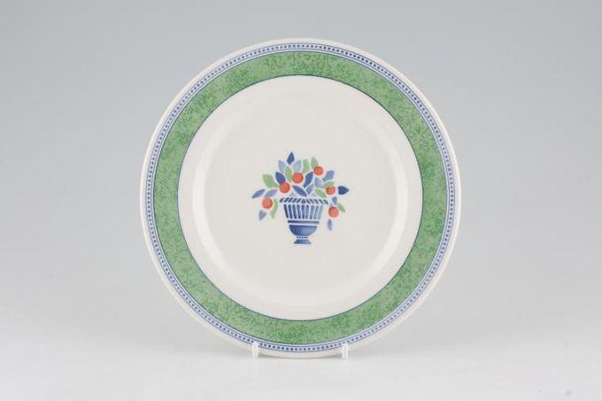 "Johnson Brothers Jardiniere - Green Starter / Salad / Dessert Plate 7 3/4"""