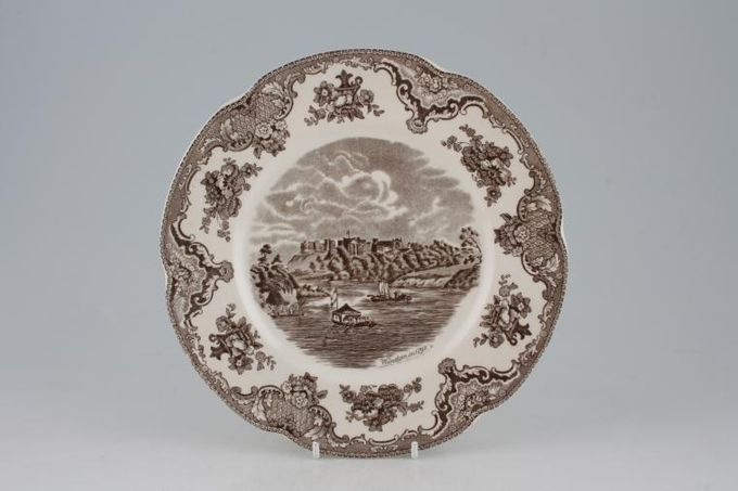 """Johnson Brothers Old Britain Castles - Brown Breakfast / Salad / Luncheon Plate 8 3/4"""""""