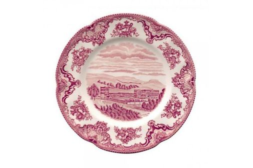 Johnson Brothers Old Britain Castles - Pink Starter / Salad / Dessert Plate Chatsworth in 1792 7 7/8""