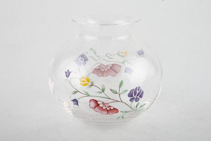 """Johnson Brothers Summer Chintz Glass Vase Posy Vase 3 3/4"""""""