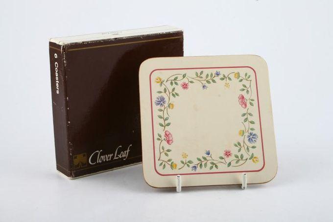 "Johnson Brothers Summer Chintz Coaster Square -Box of 6 - Cork Backed 4"""