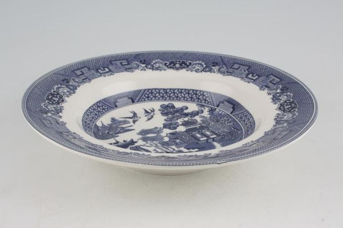 """Johnson Brothers Willow - Blue Rimmed Bowl 8 5/8"""""""