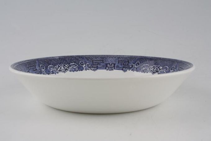 Johnson Brothers Willow - Blue Oatmeal / Cereal / Soup 7 3/8""