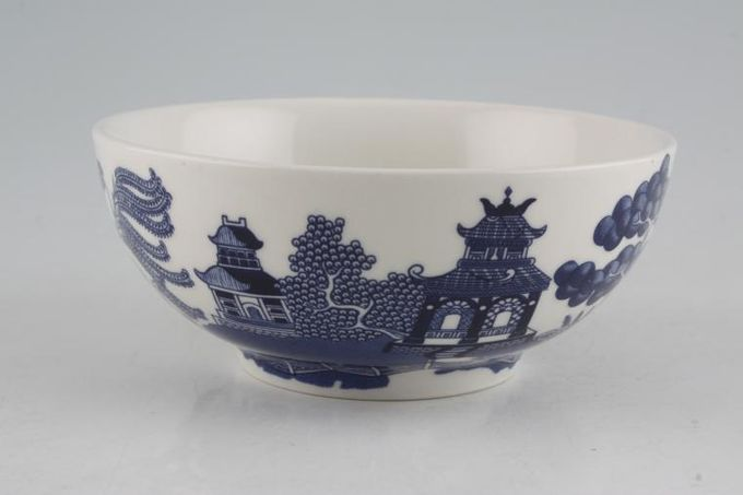 Johnson Brothers Willow - Blue Oatmeal / Cereal / Soup 5 1/2""
