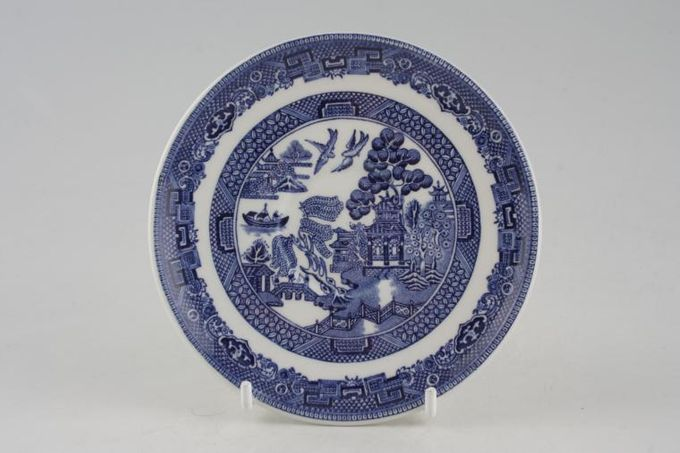 """Johnson Brothers Willow - Blue Coffee Saucer 5"""""""