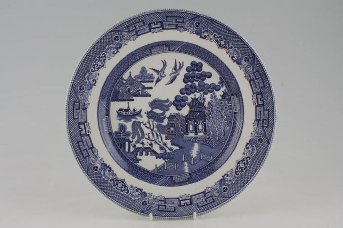 """Johnson Brothers Willow - Blue Dinner Plate 10 1/4"""""""