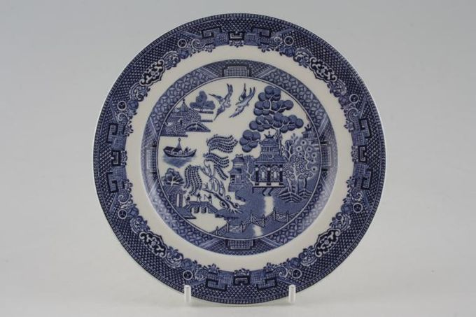 """Johnson Brothers Willow - Blue Tea / Side / Bread & Butter Plate 6 1/8"""""""