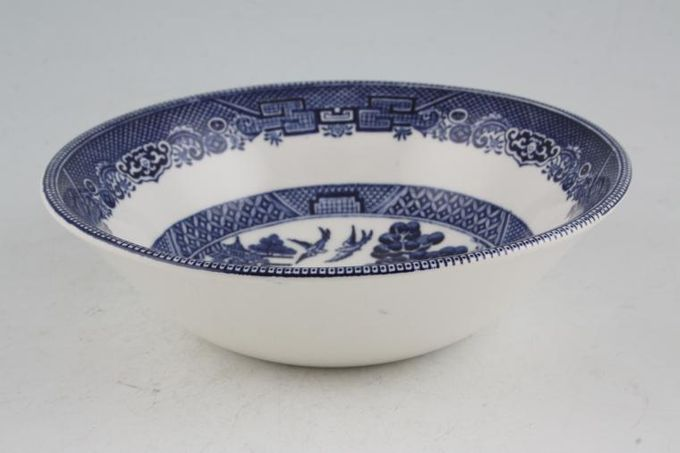 Johnson Brothers Willow - Blue Oatmeal / Cereal / Soup 6""