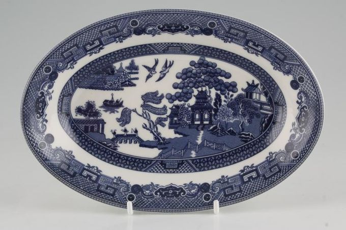 Johnson Brothers Willow - Blue Sauce Boat Stand No Well