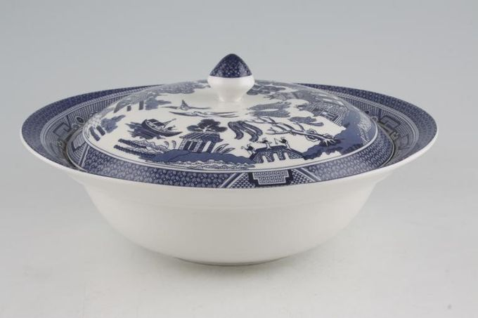 Johnson Brothers Willow - Blue Vegetable Tureen with Lid