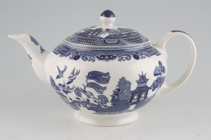 Johnson Brothers Willow - Blue Teapot Footed 2pt