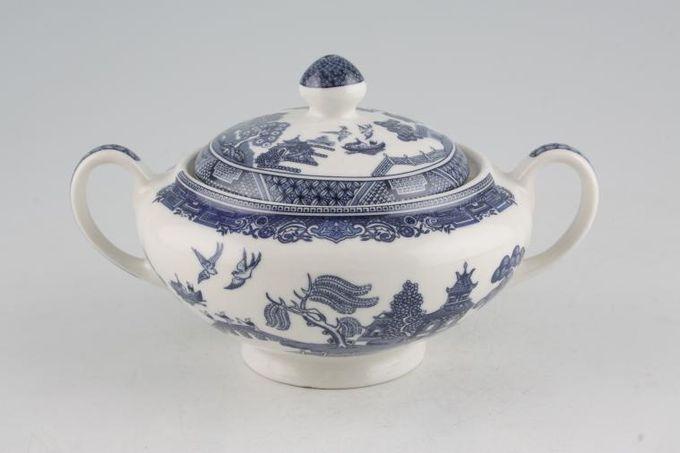 Johnson Brothers Willow - Blue Sugar Bowl - Lidded (Tea)