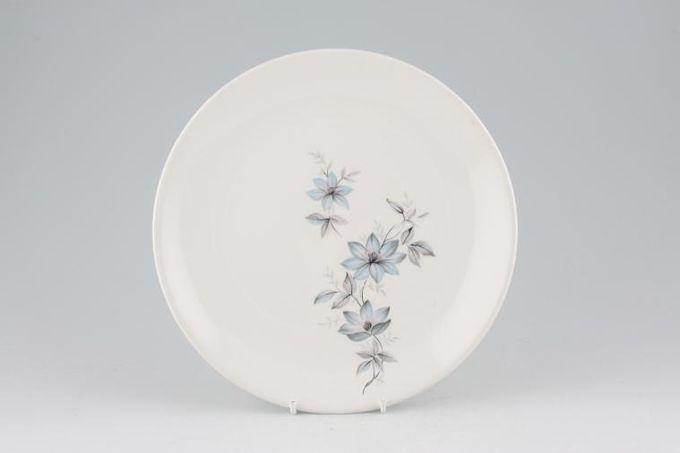 "Johnson Brothers Snowhite Range - Bluish Pink Flowers Breakfast / Salad / Luncheon Plate 8 3/4"""
