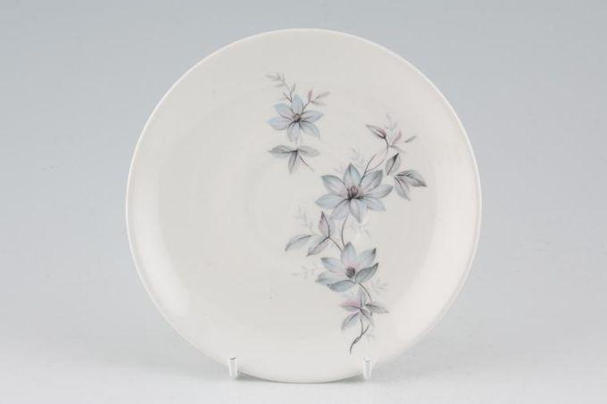 "Johnson Brothers Snowhite Range - Bluish Pink Flowers Tea Saucer 5 5/8"""