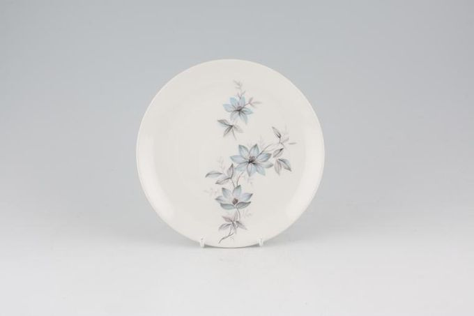 "Johnson Brothers Snowhite Range - Bluish Pink Flowers Tea / Side / Bread & Butter Plate 7"""