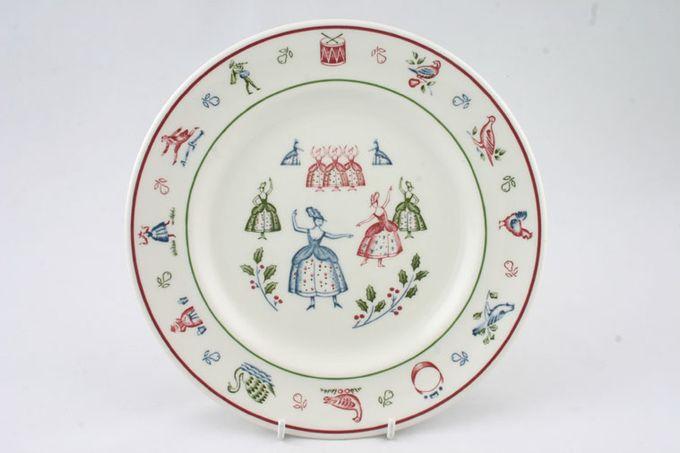 "Johnson Brothers The Twelve Days of Christmas Breakfast / Salad / Luncheon Plate Ladies dancing 8 3/4"""