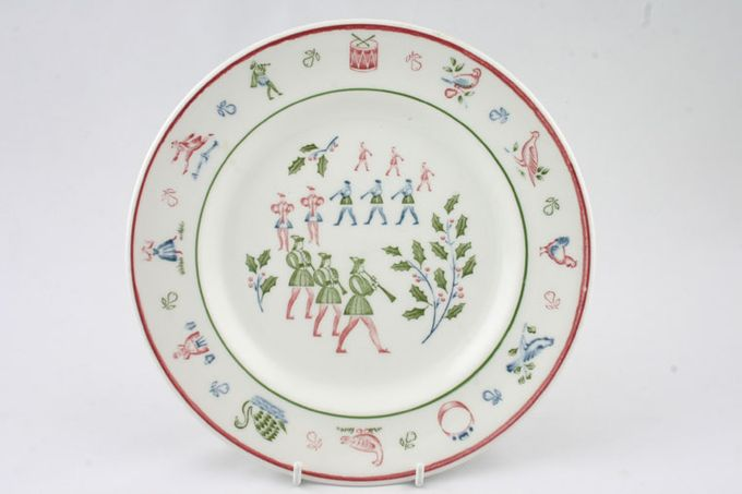 Johnson Brothers The Twelve Days of Christmas Breakfast / Salad / Luncheon Plate Pipers piping 8 3/4""