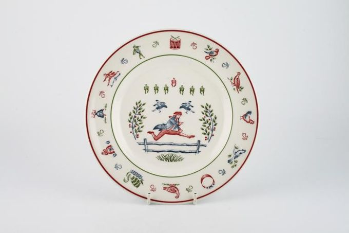 """Johnson Brothers The Twelve Days of Christmas Breakfast / Salad / Luncheon Plate Ten Lords Leaping 8 3/4"""""""