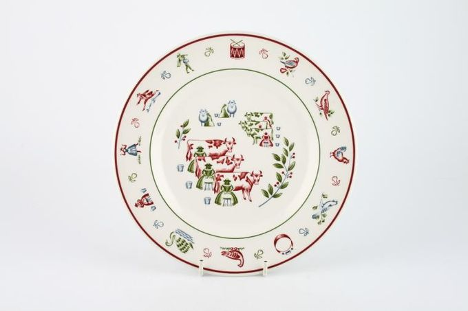 Johnson Brothers The Twelve Days of Christmas Breakfast / Lunch Plate Eight Maids Milking 8 3/4""