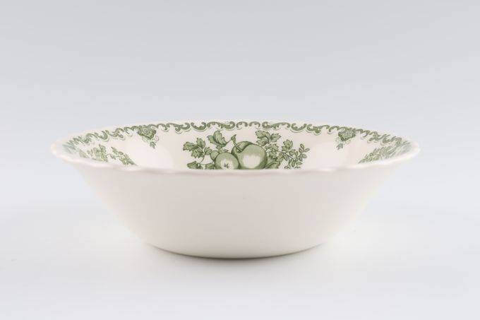 "Johnson Brothers Fruit Basket - Green Soup / Cereal Bowl 6 1/4"""