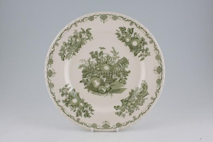 Johnson Brothers Fruit Basket - Green Dinner Plate 10 1/2""