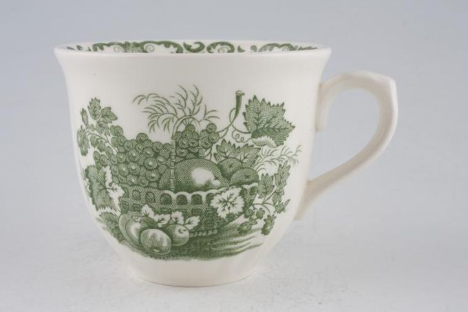 """Johnson Brothers Fruit Basket - Green Teacup Ribbed at bottom 3 1/2 x 2 7/8"""""""