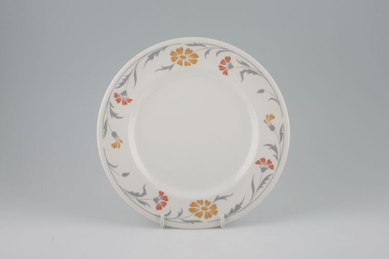 Johnson Brothers - Lugano - Orange and terracotta flowers - Tea / Side / Bread & Butter Plate
